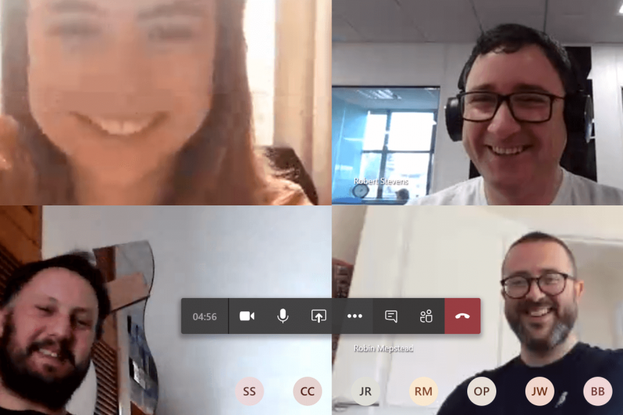 Optix Solutions team working from home